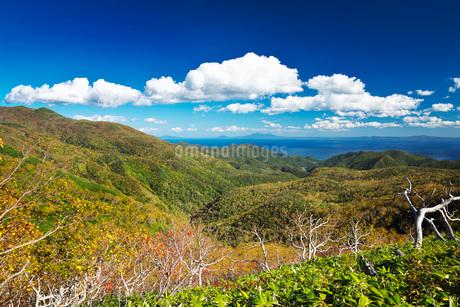 国後島と根室海峡と雲の写真素材 [FYI01783389]