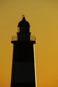 能取岬灯台の朝の写真素材 [FYI01783430]