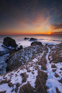 霧多布岬の日の出の写真素材 [FYI01783484]
