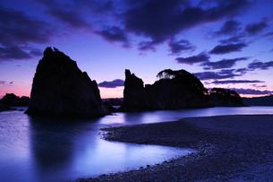 浄土ヶ浜の朝の写真素材 [FYI01783614]