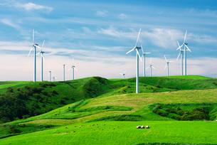 宗谷丘陵の風力発電の写真素材 [FYI01783630]