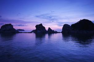 浄土ヶ浜の朝の写真素材 [FYI01783644]