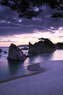 浄土ヶ浜の朝の写真素材 [FYI01783889]