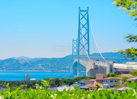神戸市の海が見える街並みの写真素材 [FYI01783901]