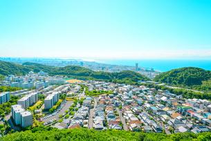 神戸市の海が見える街並みの写真素材 [FYI01783955]