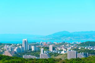 神戸市の海が見える街並みの写真素材 [FYI01783975]