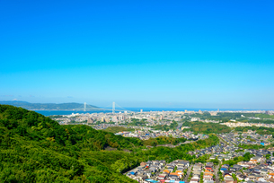 神戸市の海が見える街並みの写真素材 [FYI01784038]