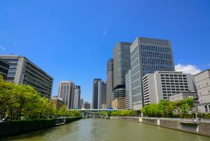 大阪中之島の街並みの写真素材 [FYI01784109]
