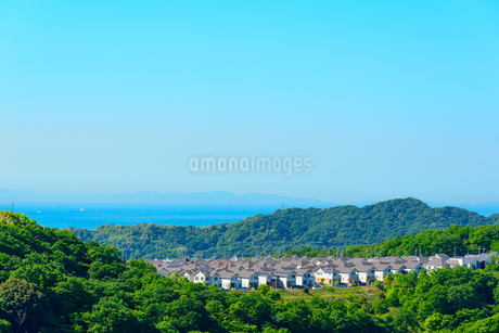 神戸市の海が見える街並みの写真素材 [FYI01784149]