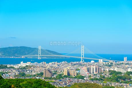 神戸市の海が見える街並みの写真素材 [FYI01784157]