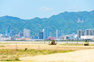 神戸市の開発造成地の写真素材 [FYI01784199]