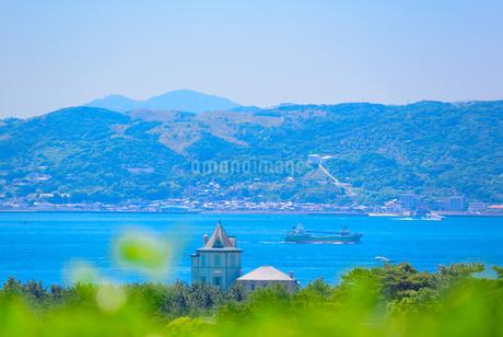 神戸市の海が見える街並みの写真素材 [FYI01784203]