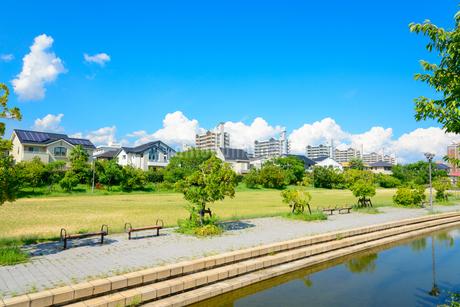 関西の住宅の写真素材 [FYI01784218]