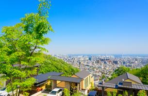 関西の住宅と阪神間の街並みの写真素材 [FYI01784382]