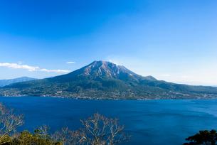 寺山からの桜島の写真素材 [FYI01784442]