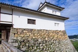 秋の彦根城天秤櫓の写真素材 [FYI01784517]