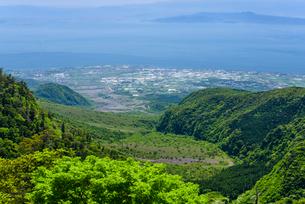 仁田峠から望む島原市街地の写真素材 [FYI01784719]