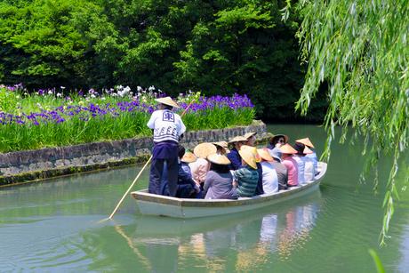 初夏の柳川川下りの写真素材 [FYI01785079]