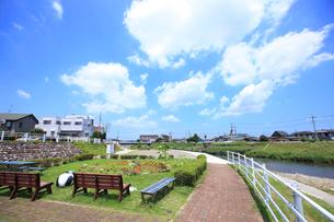 田川の遊歩道の写真素材 [FYI01785473]