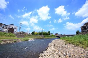 田川の遊歩道の写真素材 [FYI01786302]