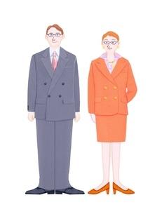 男性と女性の管理職のイラスト素材 [FYI01788633]