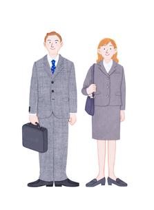 男女の新入社員のイラスト素材 [FYI01788637]