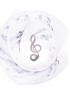 楽譜の中のト音記号の写真素材 [FYI01788766]