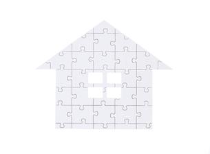 家型のジグゾーパズルの写真素材 [FYI01788768]
