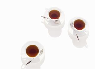 3個のコーヒーカップの写真素材 [FYI01788809]
