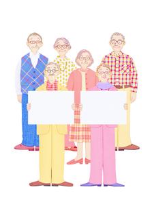 高齢者とホワイトボードの写真素材 [FYI01788838]