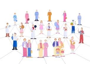 人々のネットワークのイラスト素材 [FYI01788917]