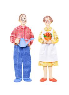 老夫婦の園芸の写真素材 [FYI01788987]