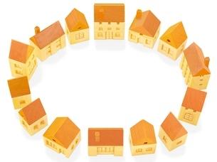 木の家の輪のイラスト素材 [FYI01789044]