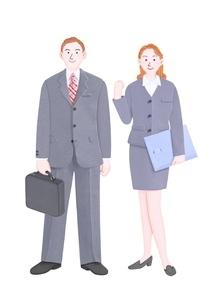 男女の新入社員のイラスト素材 [FYI01789179]