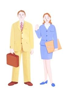ビジネスマンとOLのイラスト素材 [FYI01789186]