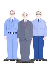 3人のシニアビジネスマンのイラスト素材 [FYI01789191]