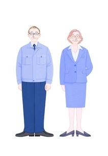 男女の働くシニアのイラスト素材 [FYI01789192]