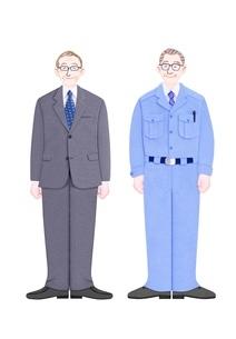 2人のシニアビジネスマンのイラスト素材 [FYI01789369]