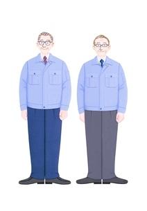 2人のシニアビジネスマンのイラスト素材 [FYI01789414]