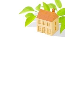 木の家とポトスのイラスト素材 [FYI01789524]