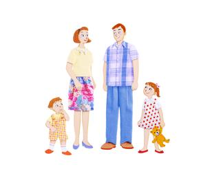家族4人の写真素材 [FYI01789879]
