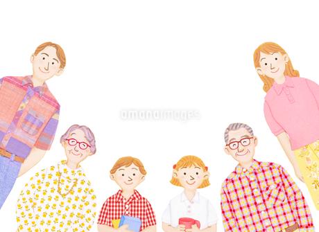 3世代家族のイラスト素材 [FYI01789952]