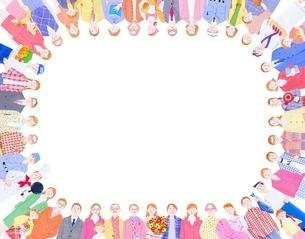 いろいろな人々の輪のイラスト素材 [FYI01789987]