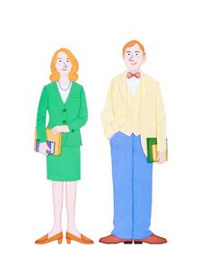 男女の外国人のイラスト素材 [FYI01790016]