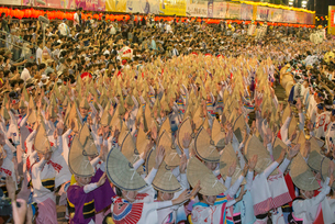 阿波踊り総踊りの写真素材 [FYI01790081]