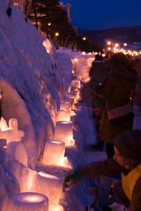 2015小樽雪あかりの路の写真素材 [FYI01790349]