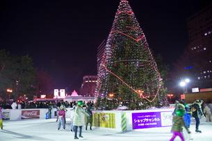 2015札幌雪祭りスケートリンクの写真素材 [FYI01790366]
