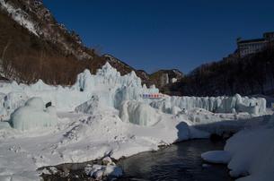 2015層雲峡氷瀑祭りの写真素材 [FYI01790427]