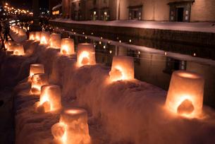 2015小樽雪あかりの路の写真素材 [FYI01790445]