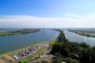 木曽三川と千本松原の写真素材 [FYI01790483]